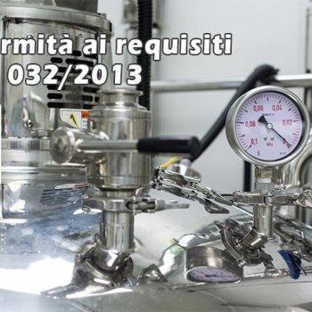 Caratteristiche della valutazione della conformità dei prodotti di ingegneria ai requisiti CU TR 032/2013 Sulla sicurezza delle apparecchiature a pressione